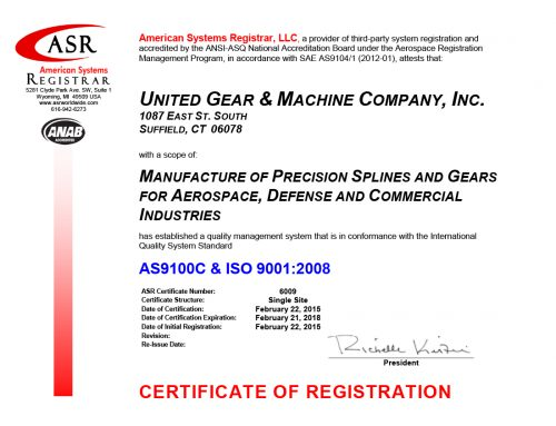 Official Press Release re: AS9100/ISO9001