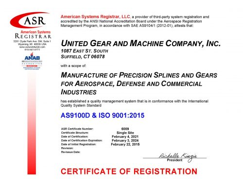 AS9100D \ ISO9001:2015 re-certification